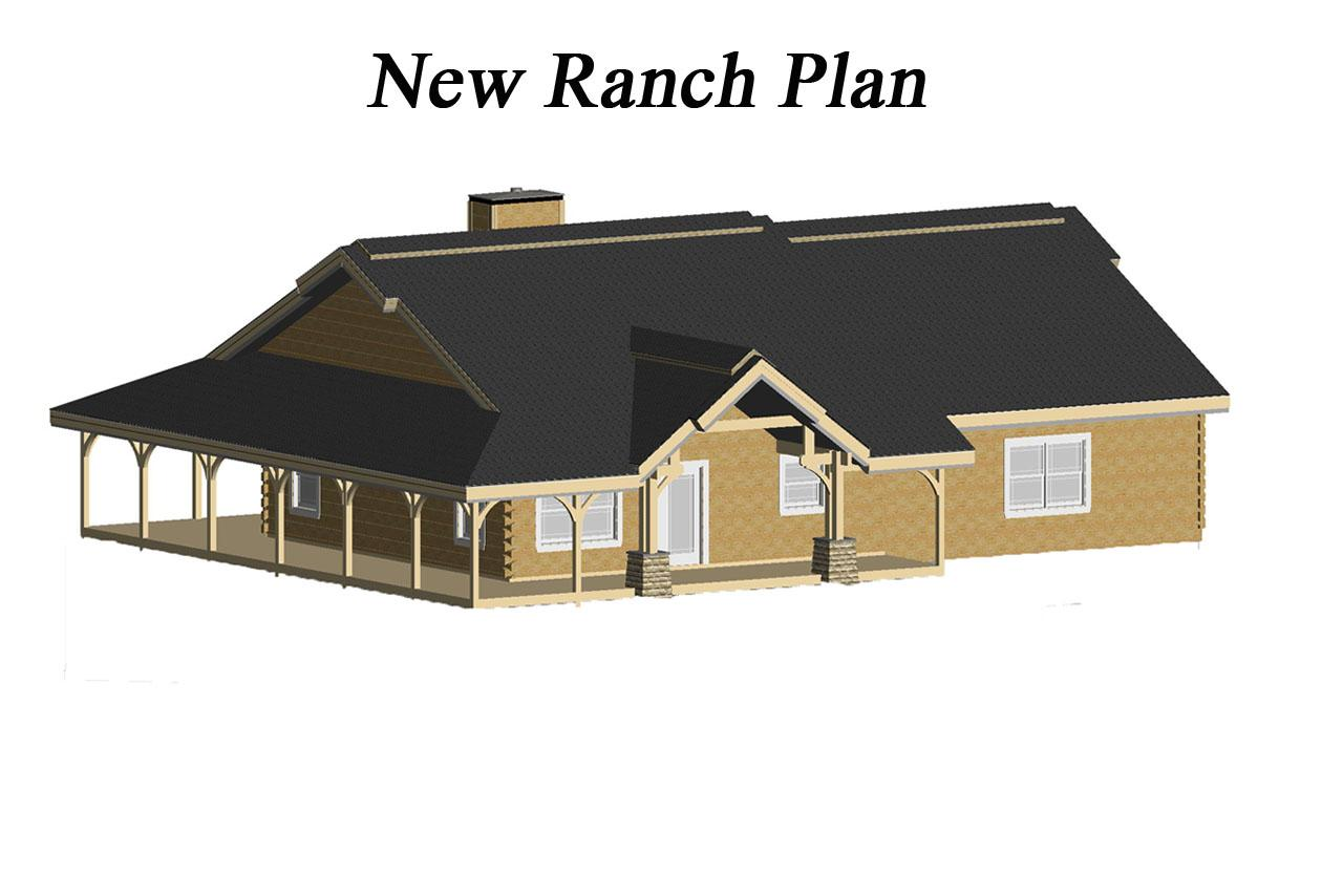countrymark log homes new ranch plan