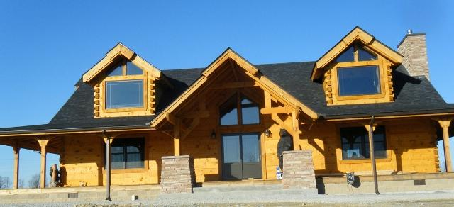 Countrymark Log Homes New Log Home In Kentucky