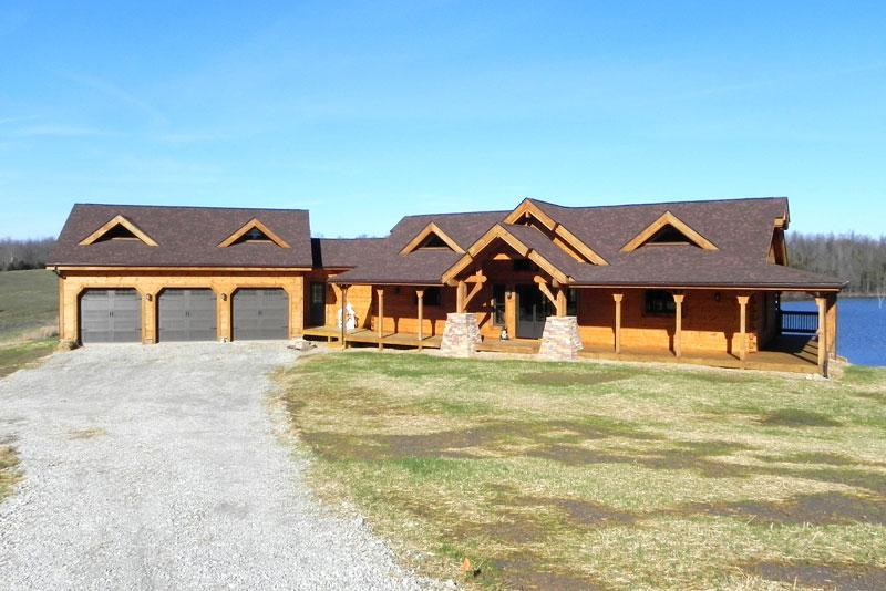Countrymark log homes prairie ranch for Timber frame ranch home plans