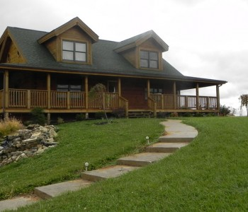 Blue Ridge Hybrid Log Home