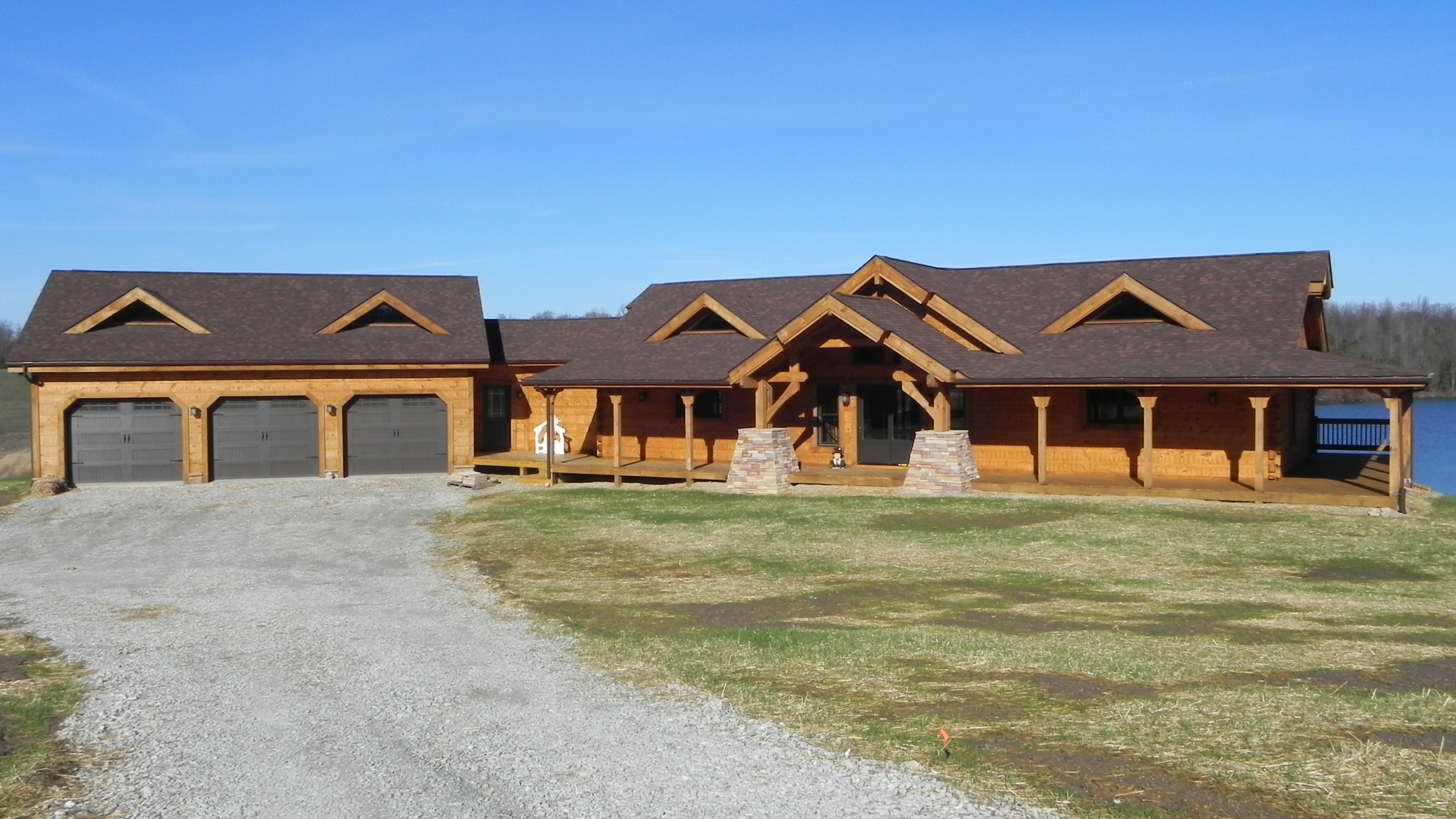 Countrymark log homes countrymark energy efficient for Timber frame ranch home plans