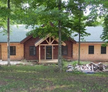 Hybrid log home Addition Near Salem IN (1)