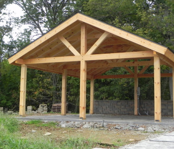 Pavillion Timber Framed