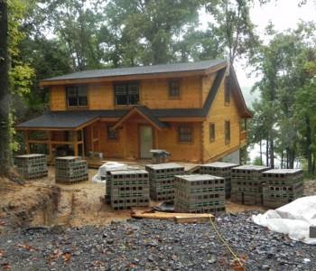 Rick Log Home website