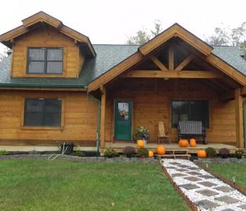 Salem Ridge Hybrid Log Home