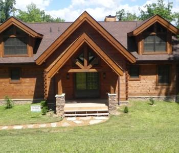 Tennessee Hybrid Log Home