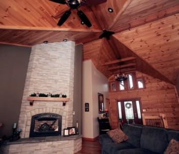 Hybrid log homes in Kentucky