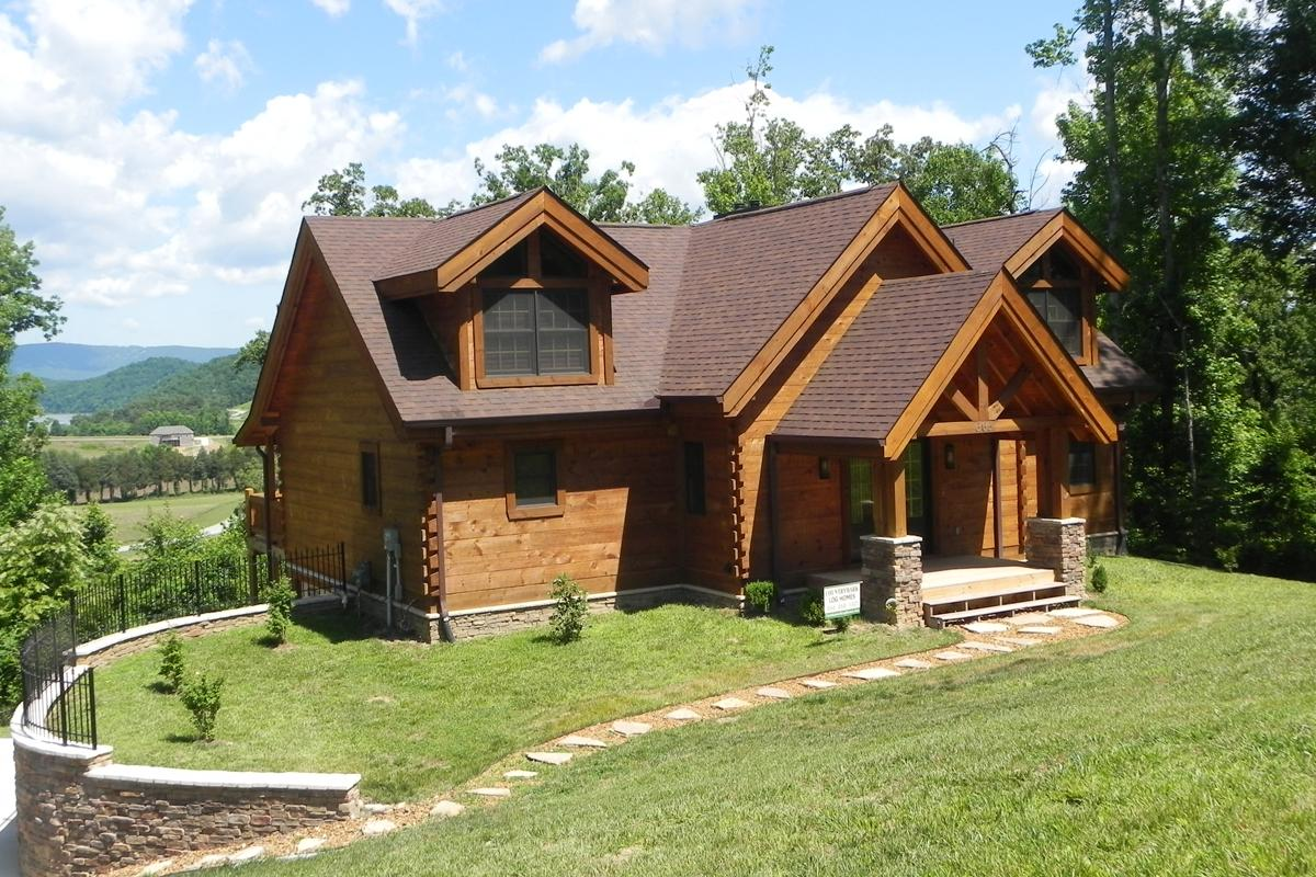 Countrymark log homes countrymark energy efficient for Log cabins homes